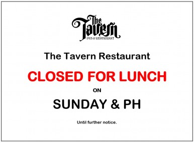 Closed Lunch on MonPH