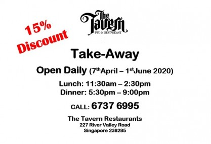 Opening Daily for Take away